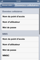 Apple iPhone 4 - iOS 6 - Internet - configuration manuelle - Étape 8