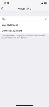 Apple iPhone X - iOS 12 - Réseau - Changer mode réseau - Étape 7