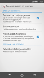 Sony Xperia Z2 4G (D6503) - Instellingen aanpassen - Fabrieksinstellingen terugzetten - Stap 5