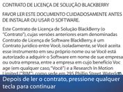 BlackBerry 9620 - Primeiros passos - Como ativar seu aparelho - Etapa 5