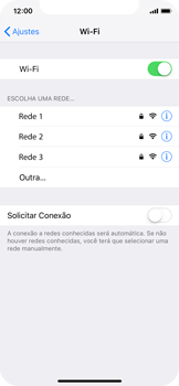 Apple iPhone X - iOS 12 - Wi-Fi - Como configurar uma rede wi fi - Etapa 5