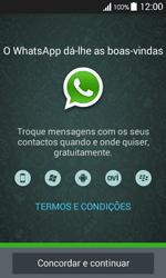 Samsung Galaxy Ace 4 - Aplicações - Como configurar o WhatsApp -  5