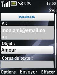 Nokia 2730 classic - E-mail - envoyer un e-mail - Étape 8
