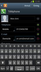 Samsung Galaxy Note 2 - Contact, Appels, SMS/MMS - Ajouter un contact - Étape 14