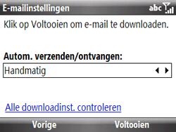 HTC S521 Snap - E-mail - handmatig instellen - Stap 13