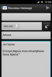 Sony ST23i Xperia Miro - E-mail - Envoi d