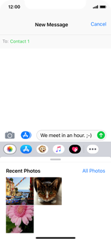Apple iPhone XS - MMS - Sending a picture message - Step 8