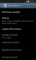 Samsung S7390 Galaxy Trend Lite - Device - Software update - Step 6