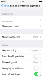 Apple iPhone 5 iOS 7 - E-mail - e-mail instellen: IMAP (aanbevolen) - Stap 16