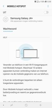 Samsung galaxy-j4-plus-dual-sim-sm-j415fn - WiFi - Mobiele hotspot instellen - Stap 11