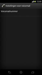 Sony LT30p Xperia T - Voicemail - Handmatig instellen - Stap 6