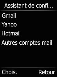 Doro 6520 - E-mails - Ajouter ou modifier un compte e-mail - Étape 10