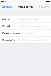 Apple iPhone 4S iOS 8 - Email - Configurar a conta de Email -  8