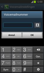 Samsung S7390 Galaxy Trend Lite - Voicemail - Handmatig instellen - Stap 8