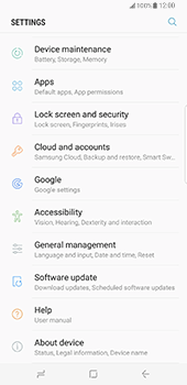 Samsung Galaxy S8 Plus - Device - Reset to factory settings - Step 5