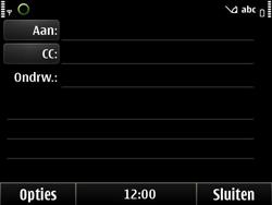 Nokia E6-00 - E-mail - E-mails verzenden - Stap 6
