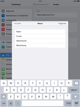 Apple iPad mini iOS 8 - E-mail - Handmatig instellen - Stap 9