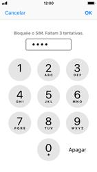 Apple iPhone SE - iOS 11 - Segurança - Como ativar o código PIN do cartão de telemóvel -  7