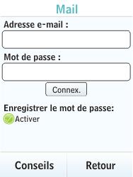 Nokia X3-02 - E-mail - Configuration manuelle - Étape 6