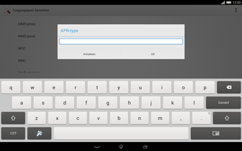 Sony Xperia Tablet Z2 (SGP521) - Internet - handmatig instellen - Stap 13