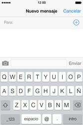 Apple iPhone 4S iOS 7 - Mensajería - Escribir y enviar un mensaje multimedia - Paso 4