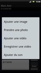 Sony Ericsson Xperia Play - Mms - Envoi d