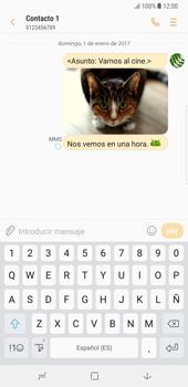 Samsung Galaxy Note 8 - Mensajería - Escribir y enviar un mensaje multimedia - Paso 20