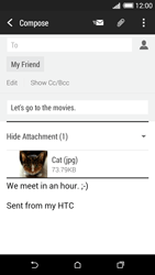 HTC Desire 620 - Email - Sending an email message - Step 16