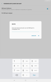 Samsung galaxy-tab-a-10-5-sm-t595 - Beveiliging en ouderlijk toezicht - Hoe wijzig ik mijn SIM PIN-code - Stap 9