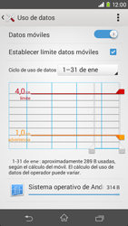 Sony Xperia M2 - Internet - Ver uso de datos - Paso 11