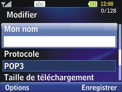 LG C320 InTouch Lady - E-mail - Configuration manuelle - Étape 16