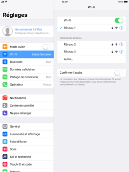 Apple iPad Pro 9.7 - iOS 11 - Wifi - configuration manuelle - Étape 6