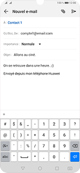 Huawei P30 - E-mail - envoyer un e-mail - Étape 9