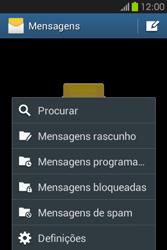 Samsung Galaxy Fame - SMS - Como configurar o centro de mensagens -  5