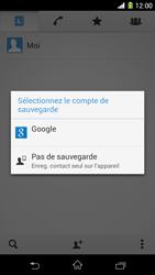 Sony Xpéria Z1 - Contact, Appels, SMS/MMS - Ajouter un contact - Étape 6