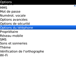 BlackBerry 9300 Curve 3G - Messagerie vocale - Configuration manuelle - Étape 4