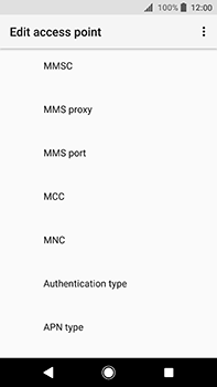 Sony Xperia XA2 Ultra - MMS - Manual configuration - Step 11
