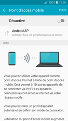 Samsung Galaxy S6 Edge - Internet et connexion - Partager votre connexion en Wi-Fi - Étape 6