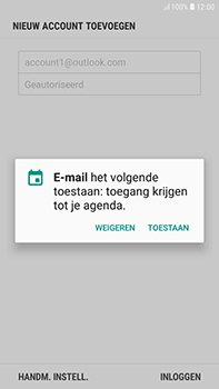 Samsung Galaxy J4 - E-mail - handmatig instellen (outlook) - Stap 12