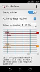 Sony D2203 Xperia E3 - Internet - Ver uso de datos - Paso 10