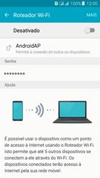 Samsung Galaxy J3 Duos - Wi-Fi - Como usar seu aparelho como um roteador de rede wi-fi - Etapa 6