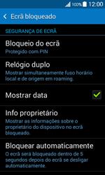 Samsung Galaxy Ace 4 - Segurança - Como ativar o código de bloqueio do ecrã -  11