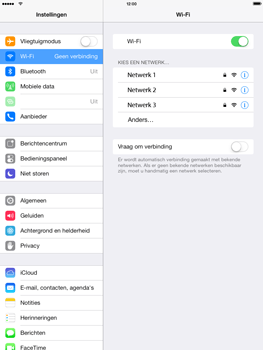 Apple iPad mini met iOS 7 - WiFi - Handmatig instellen - Stap 5