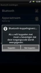 Sony Ericsson Xperia Ray - Bluetooth - koppelen met ander apparaat - Stap 10