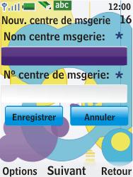 Nokia 7310 supernova - SMS - Configuration manuelle - Étape 8