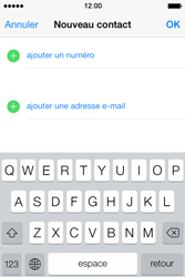 Apple iPhone 4S - Contact, Appels, SMS/MMS - Ajouter un contact - Étape 7