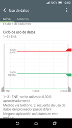 HTC One A9 - Internet - Ver uso de datos - Paso 10