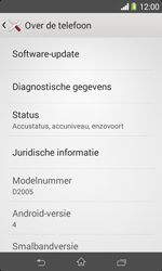 Sony D2005 Xperia E1 - Software update - update installeren zonder PC - Stap 5