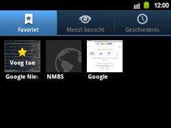 Samsung B5510 Galaxy TXT - Internet - Internetten - Stap 10