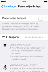 Apple iPhone 4S met iOS 8 (Model A1387) - WiFi - Mobiele hotspot instellen - Stap 4